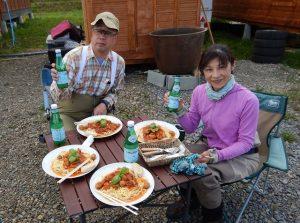 ゴンタカフェの昼食。 大自然を見渡しながらの昼食は美味しさも倍増です。